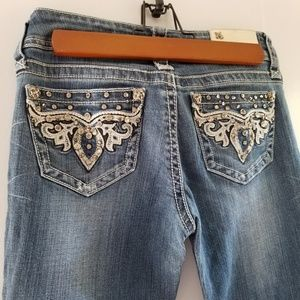 Grace embellished pocket bootcut Jean's 25